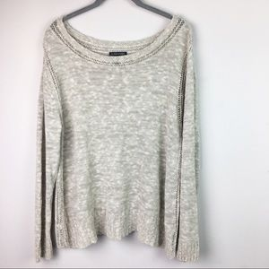 Eileen Fisher Linen Blend Knit Top Size Large